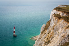 Beachy head lighthouse, UK. Royalty Free Stock Photos