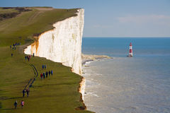 Beachy head lighthouse, UK. Stock Images