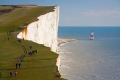 Beachy head lighthouse, UK. Stock Images