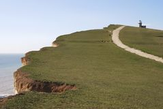Beachy Head near Eastbourne. East Sussex. England Royalty Free Stock Photos