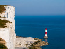 Beachy head old lighthouse in UK royalty free stock image