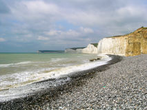 Beachy head shore in UK stock photography