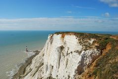 Beachy head in sunny day. Beachy head in the UK with sunny day and blue sky Royalty Free Stock Photography