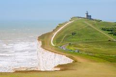 Beachy huvud. Östliga Sussex, England, UK Royaltyfri Fotografi