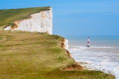 Beachy huvud. Östliga Sussex, England, UK Arkivbild