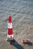 Beachy kierownicza latarnia morska, UK Obrazy Royalty Free