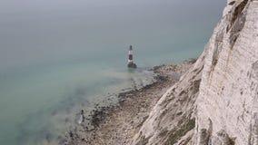 Beachy Kierownicza latarnia morska Wschodni Sussex Anglia UK zbiory