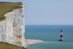 Beachy Kopf in Ost-Sussex Stockfotos