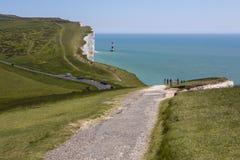 Beachy Kopf in Ost-Sussex Stockbilder