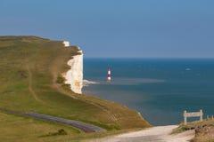 Beachy Kopf und der Leuchtturm Lizenzfreies Stockfoto