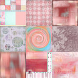 Beachy Tropical Bohemian Tapestry Scrapbook Background royalty free stock photography