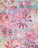 Beachy Tropical Bohemian Tapestry Scrapbook Background Stock Image