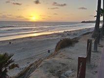 Beachy zmierzch Zdjęcie Stock