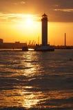 Beacon. Against the sunset sky Stock Photo