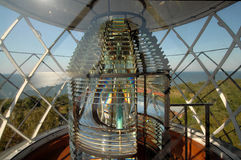 In a beacon. Glass lamp in a beacon Royalty Free Stock Photos