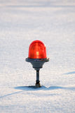 Beacon. Signalling beacon in the snow Royalty Free Stock Images