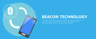 The Beacon Boom: Fitting Beacon Technology Banner  Local SEO Strategy Royalty Free Stock Photo