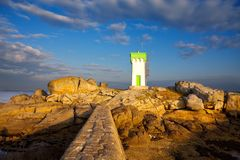 Beacon (Brittany, France) Royalty Free Stock Photos