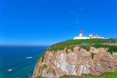 Beacon on Cabo da Roca Stock Images