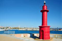 Beacon in Cambrils, Spain Stock Photography