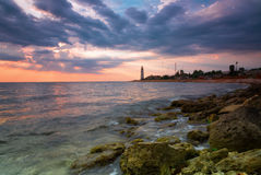 Beacon on the cape Chersonese in Sevastopol Royalty Free Stock Image