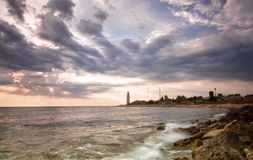 Beacon on the cape Chersonese in Sevastopol Royalty Free Stock Photography