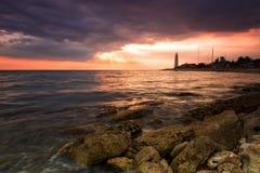 Beacon on the cape Chersonese in Sevastopol Stock Photography