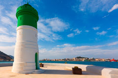 Beacon Cartagena lighthouse in Murcia Spain Stock Image
