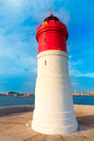 Beacon Cartagena lighthouse in Spain Royalty Free Stock Image