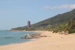 Beacon on the coast of Hainan Royalty Free Stock Photo