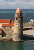 Beacon in Collioure Royalty Free Stock Images