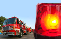 Beacon emergency light. Fire department response - Beacon emergency light Royalty Free Stock Photo