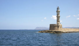 Beacon in Hanya, the island of Crete, Greece Stock Photos