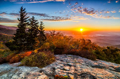 Beacon Heights sunrise. This is a beautiful fall sunrise from Beacon Heights Overlook along the Blue Ridge Parkway in Western North Carolina Royalty Free Stock Images