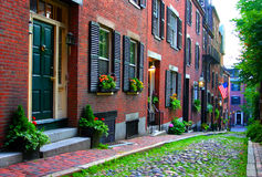 Beacon Hill, Boston Royalty Free Stock Photos