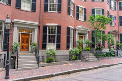 Beacon Hill in  Boston. The historical Beacon Hill in Boston Stock Photography