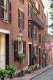 Beacon Hill in  Boston. The historical Beacon Hill in Boston Royalty Free Stock Photography