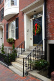 Beacon Hill, Boston. Beacon Hill is a wealthy neighborhood of Federal-style rowhouses, with some of the highest property values in the United States Stock Images