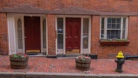 Beacon Hill district in Boston stock image