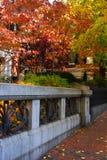 Beacon Hill es una vecindad rica en los Estados Unidos Imágenes de archivo libres de regalías