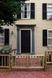 Beacon Hill est un voisinage riche des rowhouses de style fédéral, avec certaines des valeurs d'une propriété les plus élevées au photos libres de droits