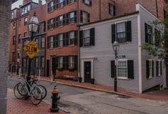 Beacon Hill okręg w Boston zdjęcie royalty free