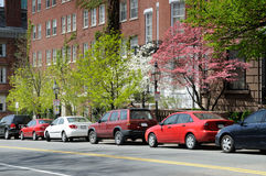 Beacon Hill in the Spring. Boston Beacon Hill in the Spring Royalty Free Stock Photography