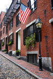 Beacon Hill is a wealthy neighborhood of Federal-style rowhouses, with some of the highest property values in the United States Royalty Free Stock Photography