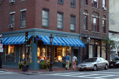 Beacon Hill is a wealthy neighborhood of Federal-style rowhouses, with some of the highest property values in the United States Stock Photography