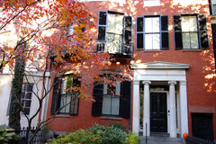 Beacon Hill is a wealthy neighborhood in the United States.  Royalty Free Stock Photography