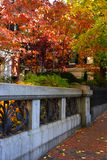 Beacon Hill is a wealthy neighborhood in the United States.  royalty free stock images
