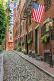 Beacon Hillin Boston. The historical Beacon Hill in Boston Royalty Free Stock Photo