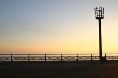 Beacon, Hove, East Sussex, UK. Replica of the beacon used to warn of the invasion of the Spanish Armada, Hove seafront, East Sussex, UK Stock Photo