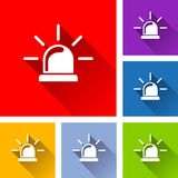 Beacon icons with long shadow. Illustration of beacon icons with long shadow Stock Images
